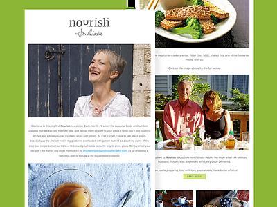 Nourish by Jane Clarke newsletter nutritionist nutrition wellness design branding ui ui design newsletter
