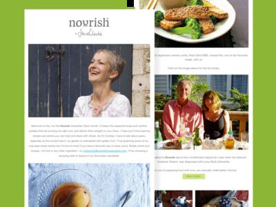 Nourish by Jane Clarke newsletter
