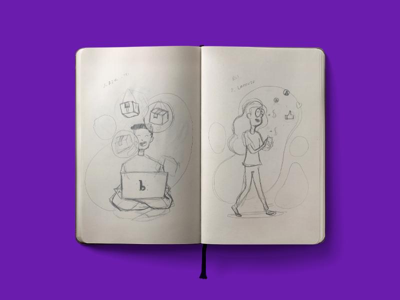 Bleez Home Sketch drawing illustration sketch character design