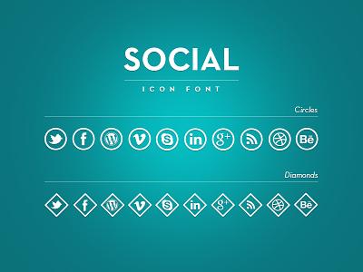 Social icons font - trial blue shine icons font white shadow icon font icons font free icon font