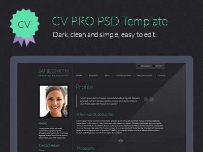 CV PSD Template