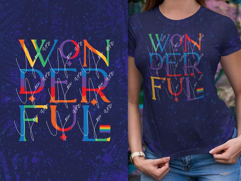 T-shirt & Poster design paris lamore font display font handwritten font bright colors posterdesign tshirtdesign poster art lgbtq