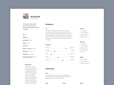 Persona template ux tools serif clean negative persona ux persona