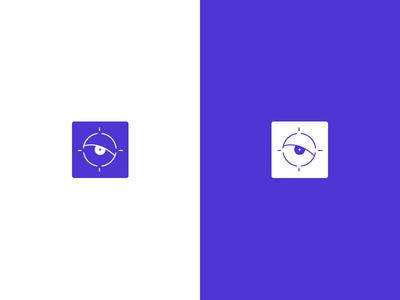 Icon idea outline thin eyes eye target logo icon