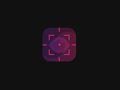 Target icon transparent gradient logo icon eye target