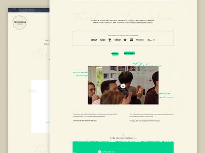 Redesign bright green clean redesign website homepage