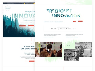 Exploring different design directions exploded grid header website homepage organic clean