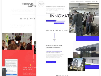 Experimenting with style, colours and layout sharp clean innovation design thinking grid exploded grid colours homepage website