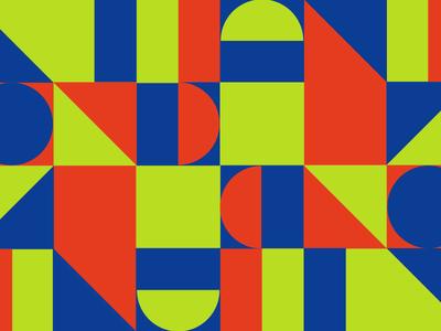Brand identity exploration mixed styles basic shapes serif branding illustrations geometric pattern bold bright