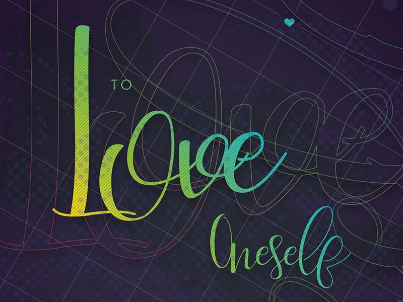 Happy St. Valentine quote saint valentines grid typography gradients poster love valentine day