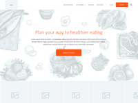 Meal planner wireframes