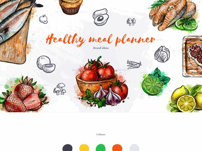 Branding ideas diet recipes healthy eating health meal planner planning typography fonts colours branding