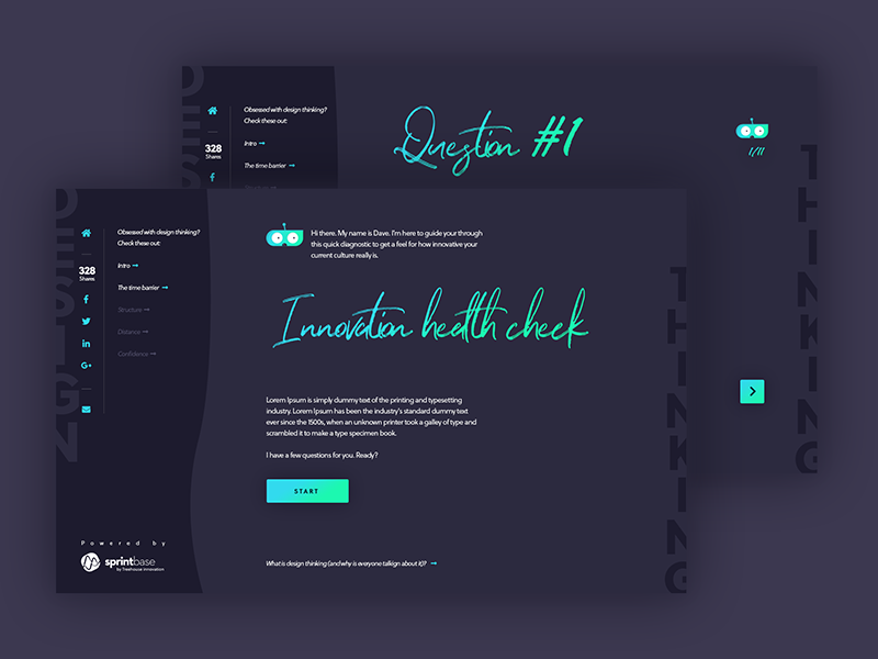 Innovation health check quiz by Teodora on Dribbble