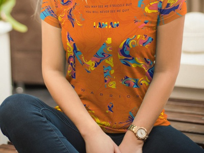 T-shirt design ms art ms awareness bright colors typography pattern apparel t-shirt multiple sclerosis ms