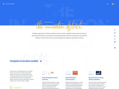 Content hub homepage
