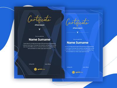 Certificate design print design certificate design a5 certificate