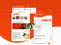 app menstrual calendar feed home design aplicativo grlpwr woman app ux ui