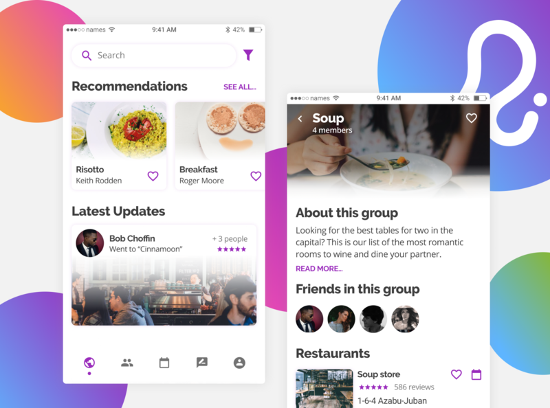 app de comida search menu restaurants home design ui design food ux ui app