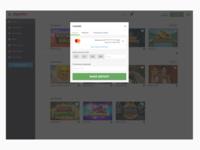 Online casino cashier view