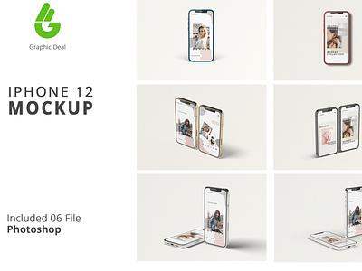 Iphone 12 mockup iphone 12 mockup design