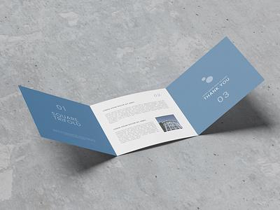 Trifold Square Brochure Mockup paper 3d brochure free design trifold mockup graphic design