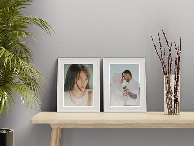 Free Minimal Frame Mockup graphic design
