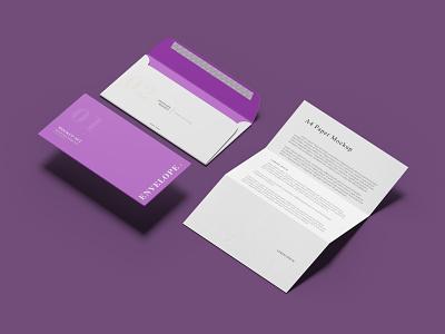 FREE ENVELOPE  A4 PAPER MOCKUP free design psd mockup a4 folder envelope paper graphic design
