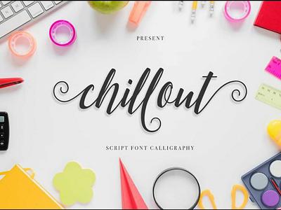 Chillout Script Font illustration logo iphone design free mockup lettering fonts typo font