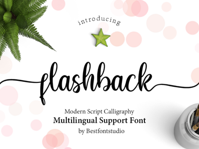 Present Flashback Font today free design calligraphy lettering typo font