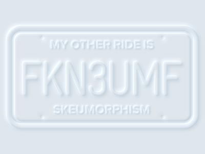Neumorphism is dead neumorphism