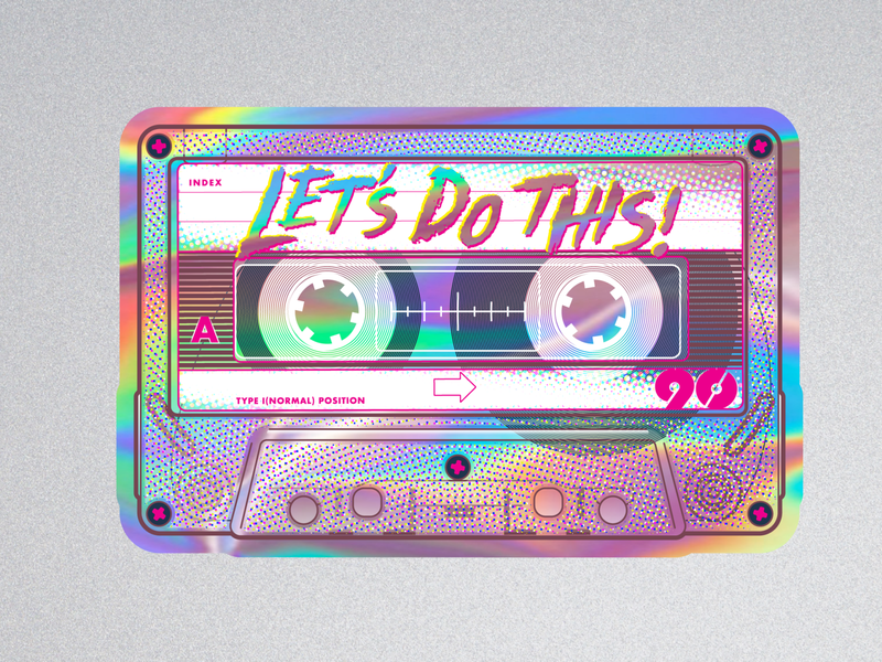 Let's Do This! stickermule sticker