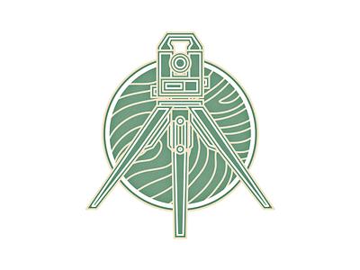 Surveyor engineer logo survey