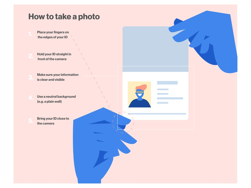 How to take a photo identity id verification design