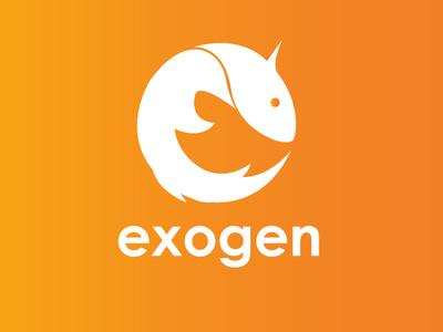 Exogen visual programming tool axolotl adobe photoshop cc adobe illustrator cc icon logo programming visual art logo design concept logo exogen