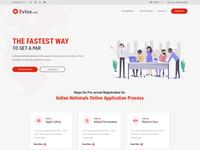 Landing page for PAR Visa