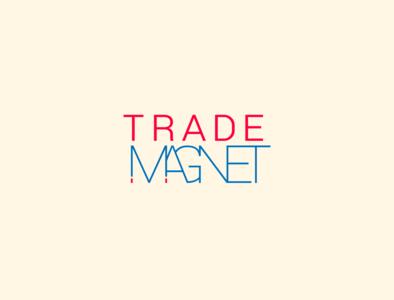 trade magnet vector branding design logo typography