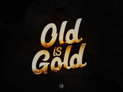 Old Is Gold illustration logotype logo logo design artdirection illustrator freehand shot first calligraphy typography