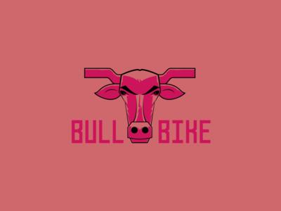 bull bike bike bull concept character artwork art direction vector branding illustrator design logo illustration typography