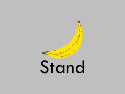 Banana Stand drawing illustration