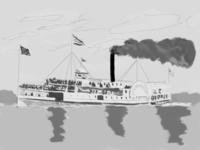 Steamboat in progress