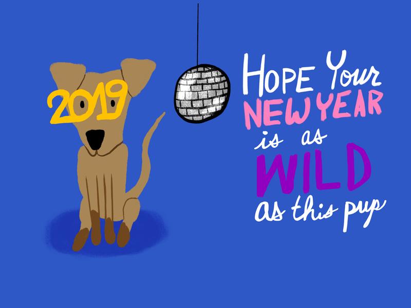 New Year Redux dog doodles doodle drawing illustration