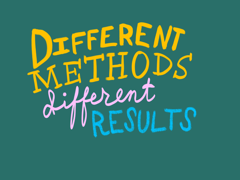 Different Methods, Different Results drawings doodles doodle drawing illustration