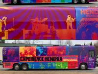 Experience Hendrix tour bus graphics 2019