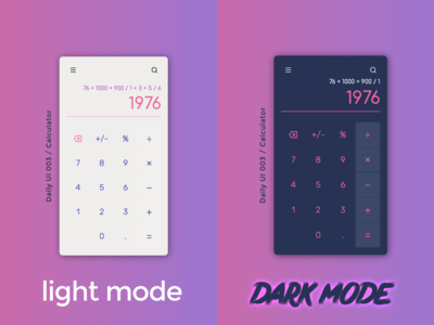Light Mode VS Dark Mode