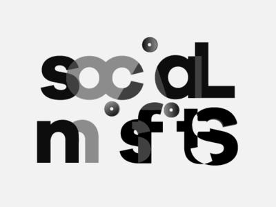 Social Misfits Redesign identity vector logo illustrator branding icon design