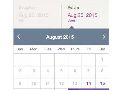 Trying out a Calendar Design design ux ui selection calendar ios