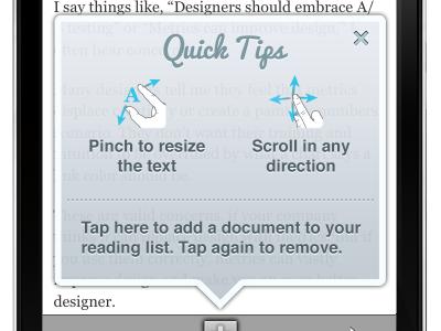 Help Messaging for Float App float scribd onboarding help messaging mock
