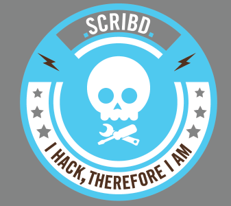 Scribd Hack Day Badge scribd illustrator tshirt design
