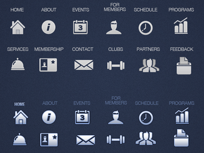 Icon set for Western Athletic  icons touch screen