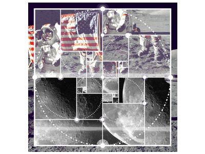 Moon Landing And Orbit Poster